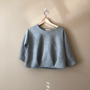 Painted threads cropped sweatshirt
